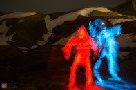 Fire and Ice figures - light painting experiments