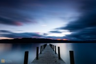 The final shot of the week, the public jetty on the banks of Windermere at sunset
