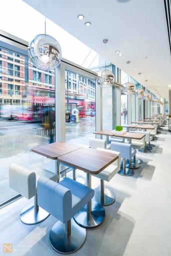 Floor-to-ceiling windows allow plenty of light in