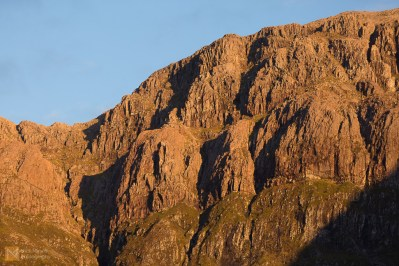 Evening sunlight on the mountians at Glencoe