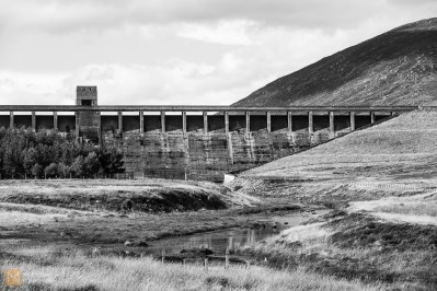 Dam at Loch Glascarnoch - the last concrete structure for days
