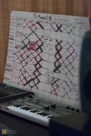 In the band's studio later that day, the new album exists as a chart on the wall