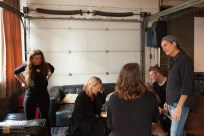 Kevin Cole from KEXP meets the band backstage