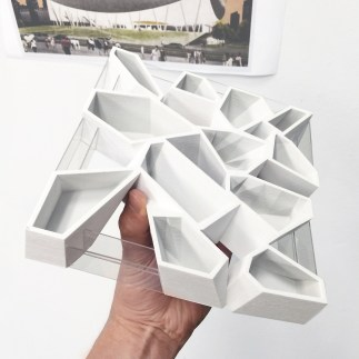 """MOCA(PE),"" from Typtopia Exhibition, 3D printed component"