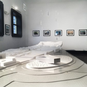 """""""Typetopia,"""" model for Khoury Levit Fong, Installed at meetinghouse gallery, Miami, September 2016."""