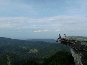 Segue and Jake on McAfee Knob - 2009
