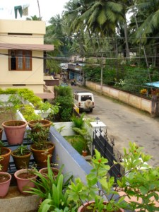 View of my street from Ram's balcony