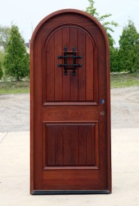 Mahogany Round Top Clearance Pre-Finished Exterior Door ...