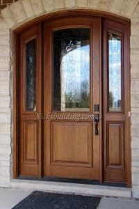 MAHOGANY ARCHED DOORS