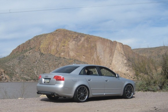 Audi A4 B7 with Quad Tip Exhaust