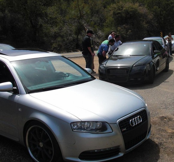 Audi A4s Black and Silver