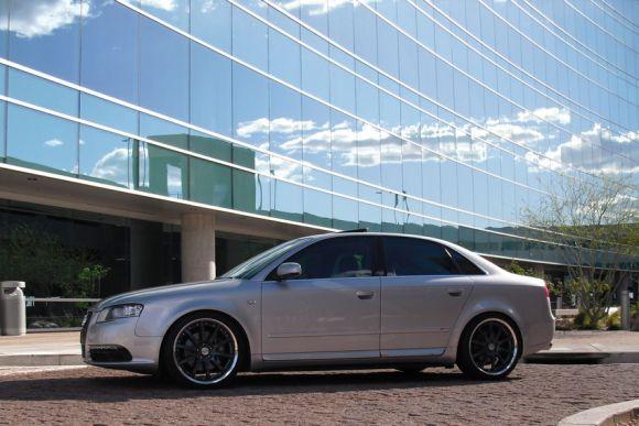 B7 Audi A4 Silver Side Profile