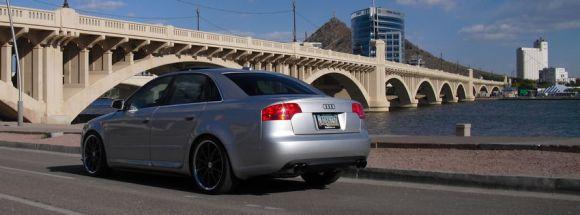 B7 Audi A4 Silver Rear