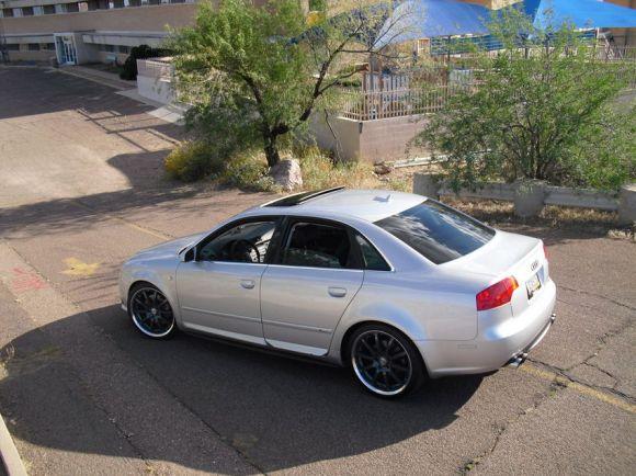 B7 Audi A4 Silver Top Rear Shot