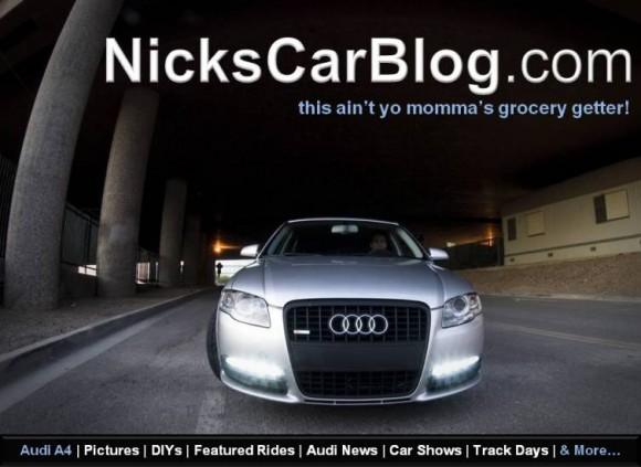 Nick's Car Blog on Facebook