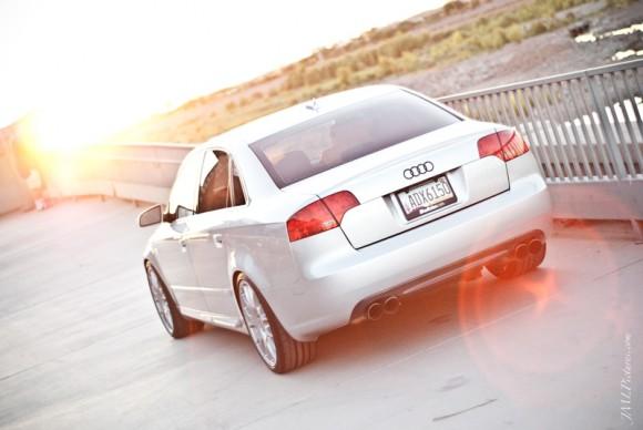 Audi A4 with Quad Exahust, BBS Wheels