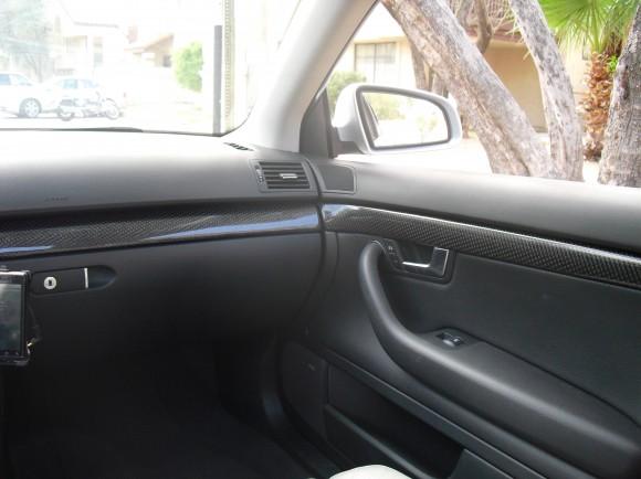 Carbon Fiber Interior Trim Detail