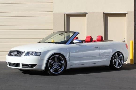 White Audi Convertible