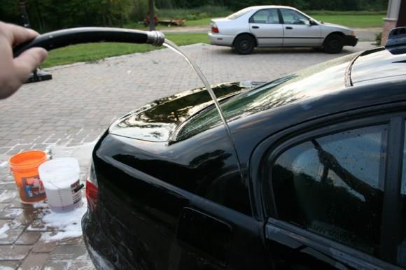 Dry Sheeting A Car