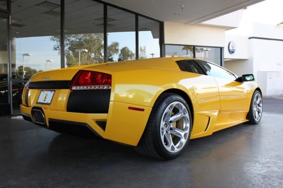 Yellow Lamborghini LP-640 Murcielago - Rear