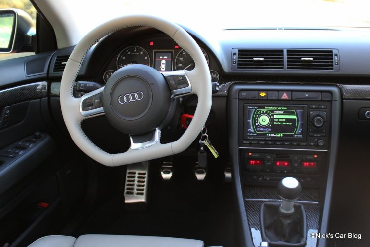 B7 S4 Interior with Flat Bottom Wheel