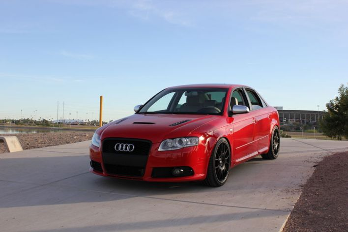 B7 Audi S4 with BBS Wheels and Carbon Fiber Hood