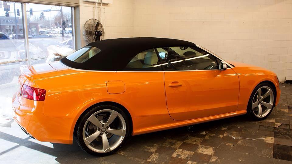 Audi RS5 Cabriolet Orange