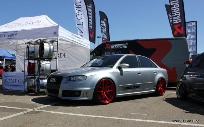 Avus Silver B7 RS4 on Red AG Wheels