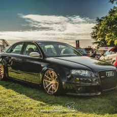 Charlie's Bagged RS4 on 20″ Rose Gold Rotiform SPF Wheels