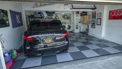 Photo of $1,000 Garage Makeover: Flooring, Lighting & Decor