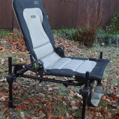 Fishing Chair Hand Wheel Office Cushions Korum Accessory Nick S Angle The Back Of Is Fully Adjustable With Large Wheels Allowing You To Get As Comfortable Like When On Bank For Long Summer Days