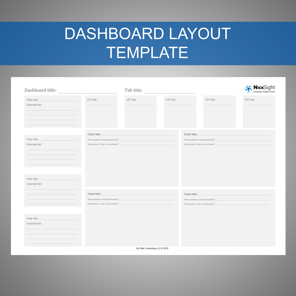 the dashboard layout template nicksight