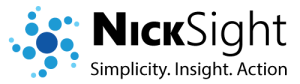 NickSight: Simplicy. Insight. Action.
