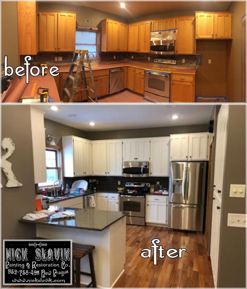 kitchen cabinet images sink plumbing kit painting nick slavik and restoration co