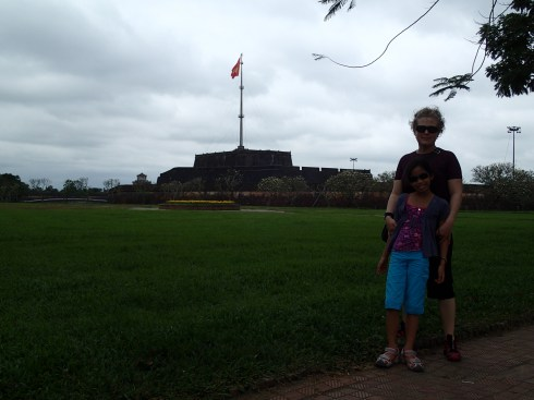 Pam and Rae outside the Imperial City.