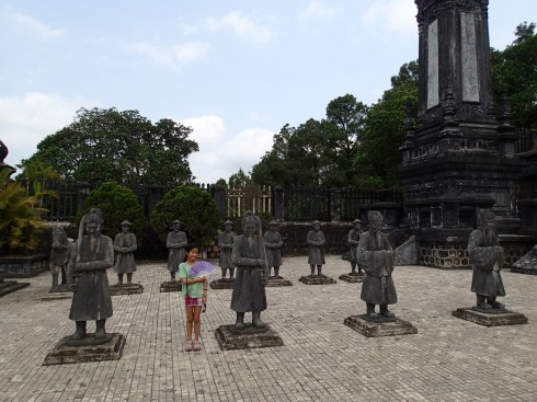 """This is just one """"tier"""" of Khai Dinh's tomb. There are about four or five."""