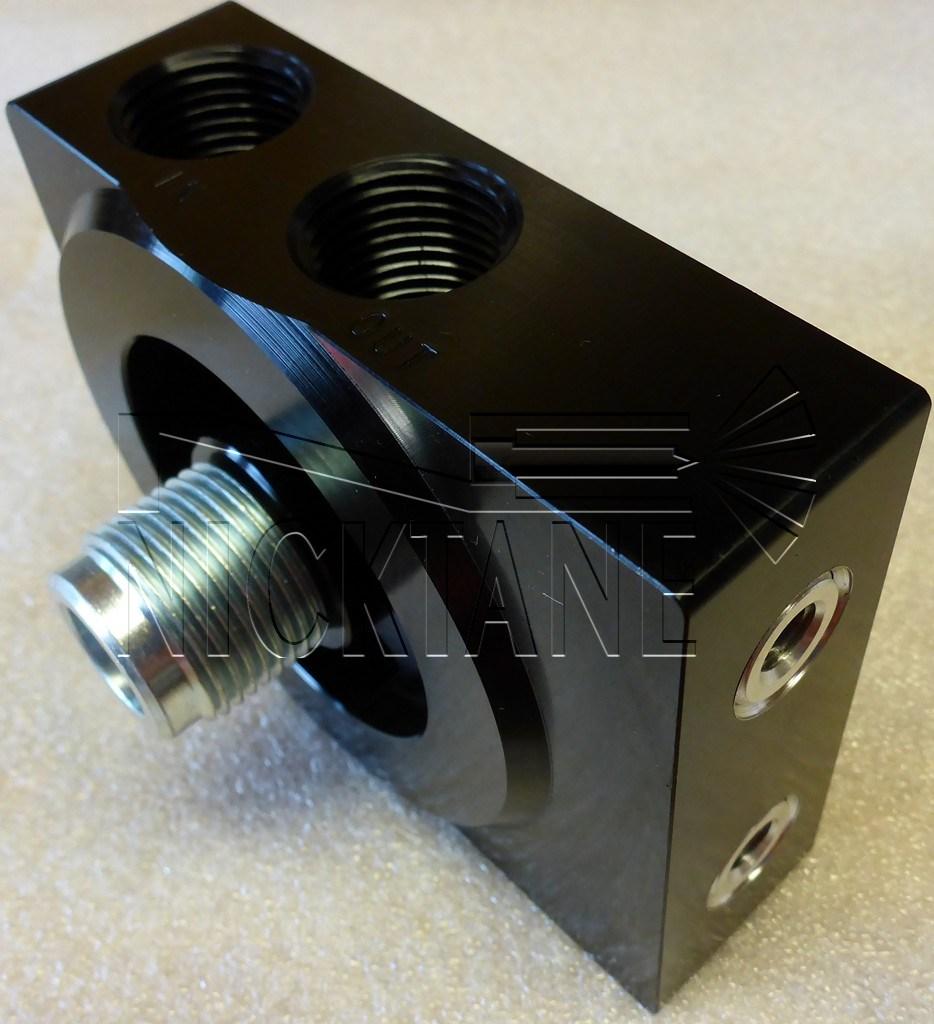 medium resolution of billet aluminum filter head