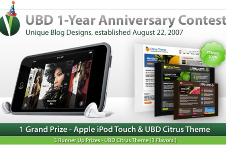 Unique Blog Designs 1-Year Anniversary Contest