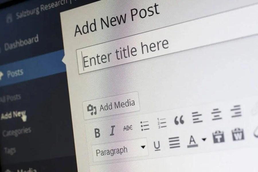 add new post wordpress