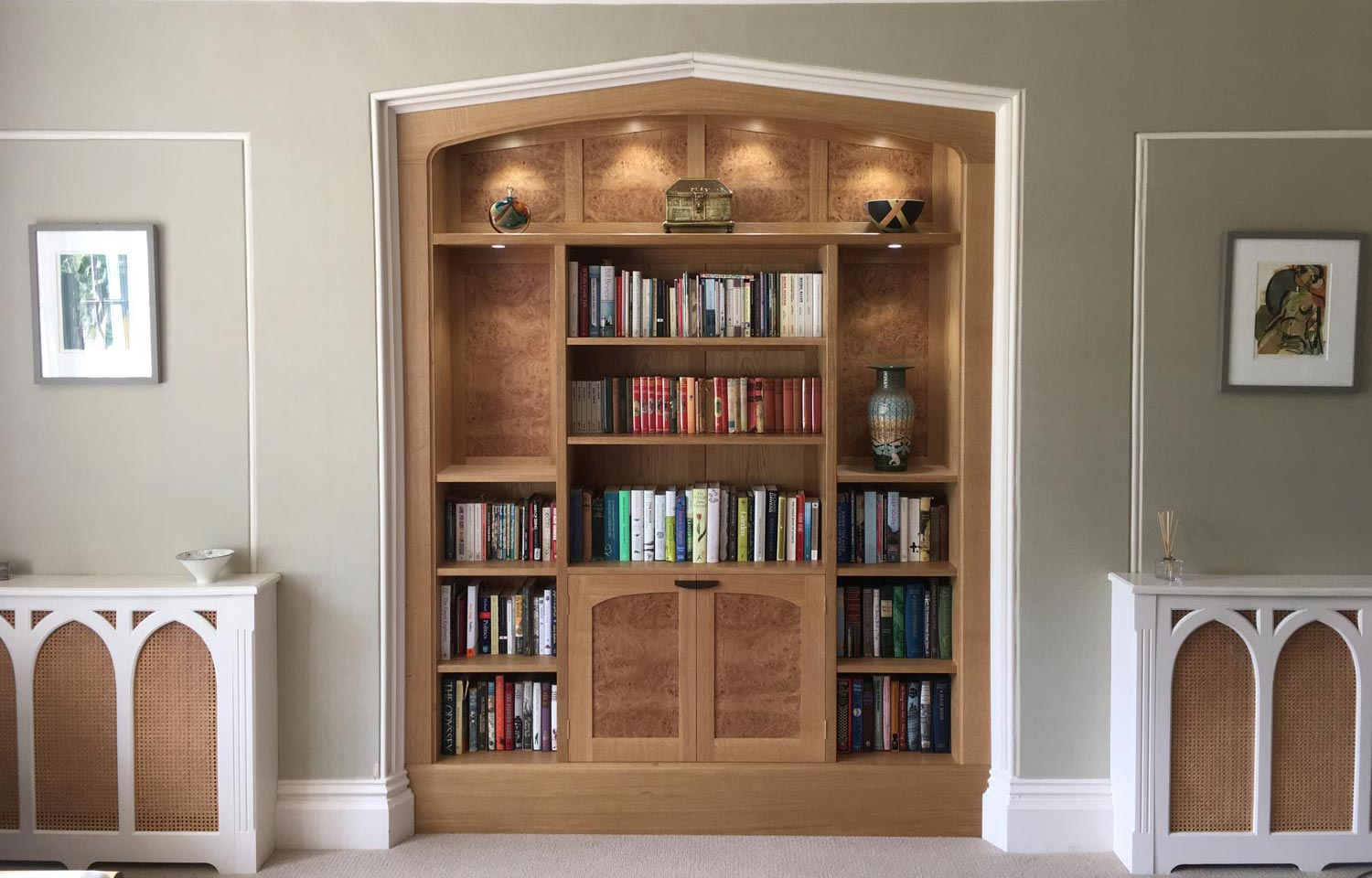 Oak Alcove display