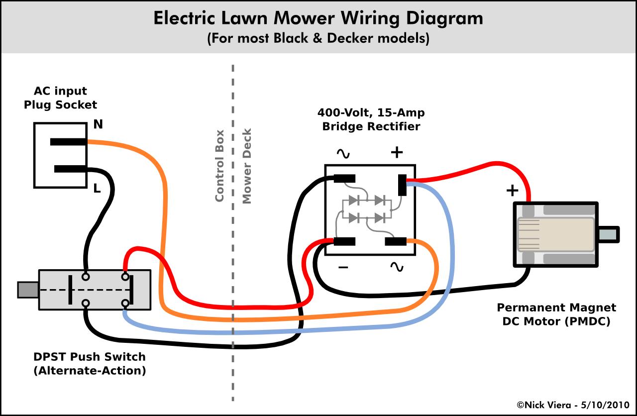 Nick Viera: Electric Lawn Mower Wiring Information
