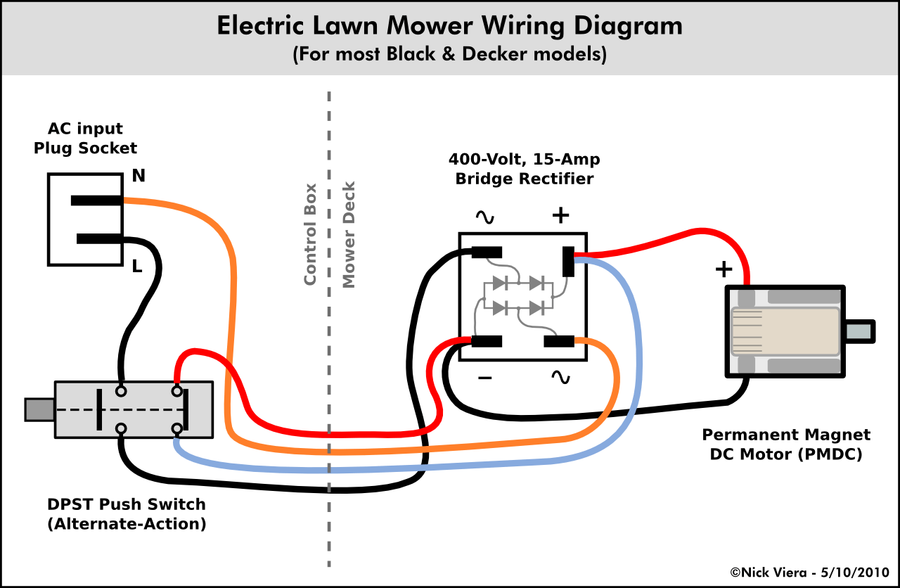 hight resolution of electrical wiring diagram with switch plug wiring diagram centrenick viera electric lawn mower wiring informationelectrical wiring