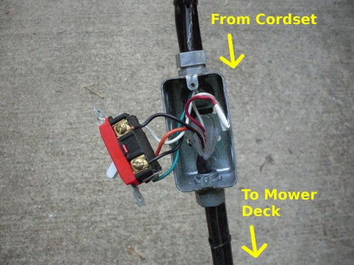 small resolution of electric mower switch mod electric mower switch mod