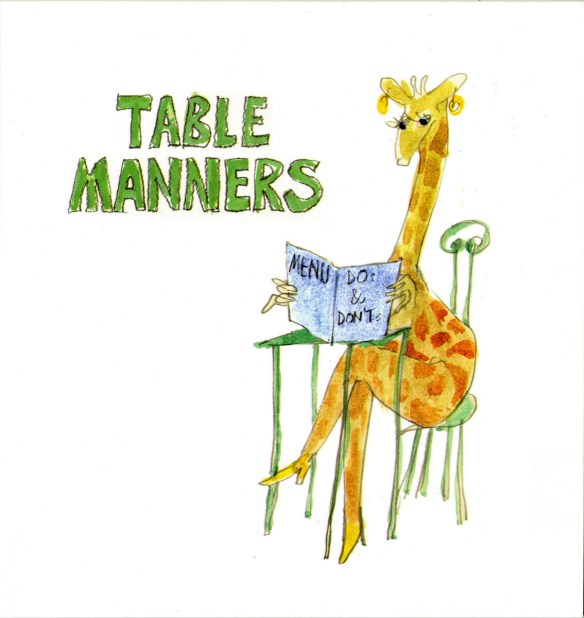 Table Manners. 2014, privately published; second edition 2015. Madeleine Renouard & Nick Wadley, Table Manners