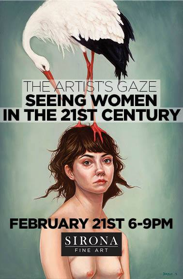 """The show flyer is featuring Dorielle Caimi's piece, """"The Weight."""""""