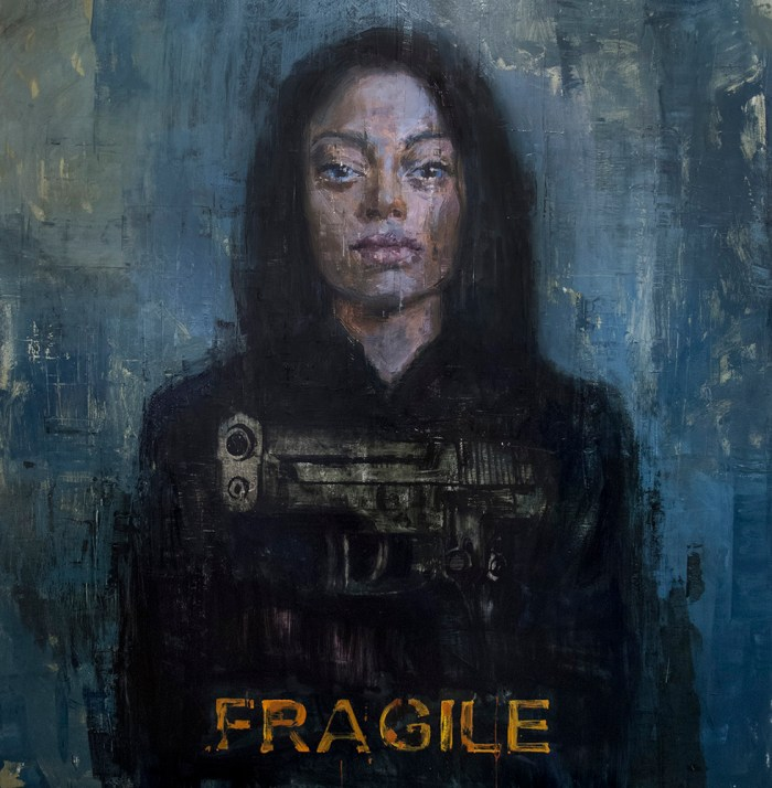"Joseph Adolphe - ""Fragile"" - oil on canvas"