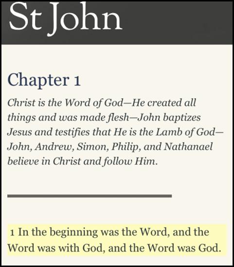 john 1-1 - kjv