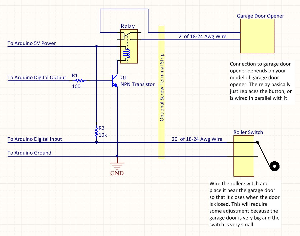 hight resolution of garage door opener wiring