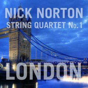 Cover art for Nick Norton's String Quartet No. 1: London