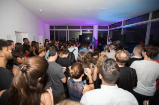 ASTR (Zoe Silverman & Adam Pallin) performs as Part of the Annie O Music Series in the Penthouse at The Standard, East Village on July 30, 2015
